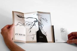 Editorial Design Antiquariatsführer mit Ausklappkarte