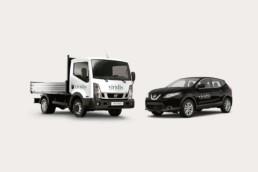 Corporate Design Autobeschriftung Viridis GmbH