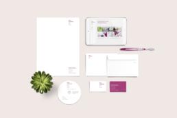 Corporate Design Briefschaft Zahnarztpraxis Schweiger