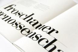Editorial Design Manual Logo Froschauer Genossenschaft