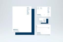 Corporate Design Briefschaft für Advokatur Nievergelt