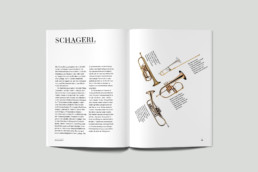 Editorial Design Inhaltsseite Mnozil Brass