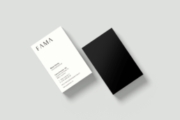 Corporate Design Visitenkarten Fama Partner AG