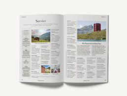 Reiseführer Bündner Pärke Inhaltsseiten
