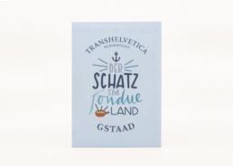 Lettering für die Gstaader Schatzkarte Titelseite