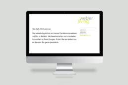 Webdesign weber living Startseite